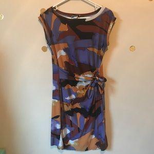 J.B.S Watercolor Abstract Career Dress
