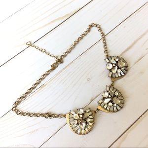 Jewelry - 🌷🆕🌷Clear Gemstone Gold Statement Necklace