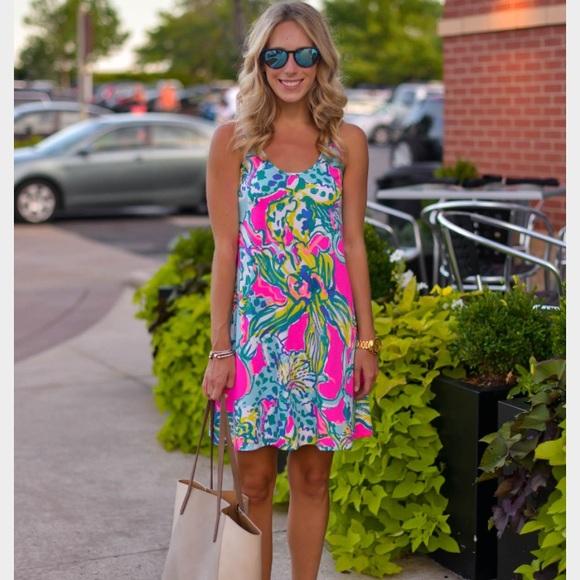 e674cdc1749662 Lilly Pulitzer Dresses | Melle Trapeze Magenta Hottie Dress | Poshmark