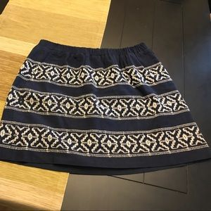 Madewell cotton lined skirt size small