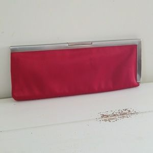 Calvin Klein Red Satin Clutch