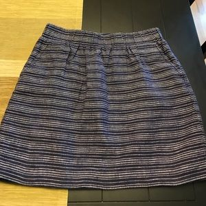 Loft cotton and linen lined skirt size small