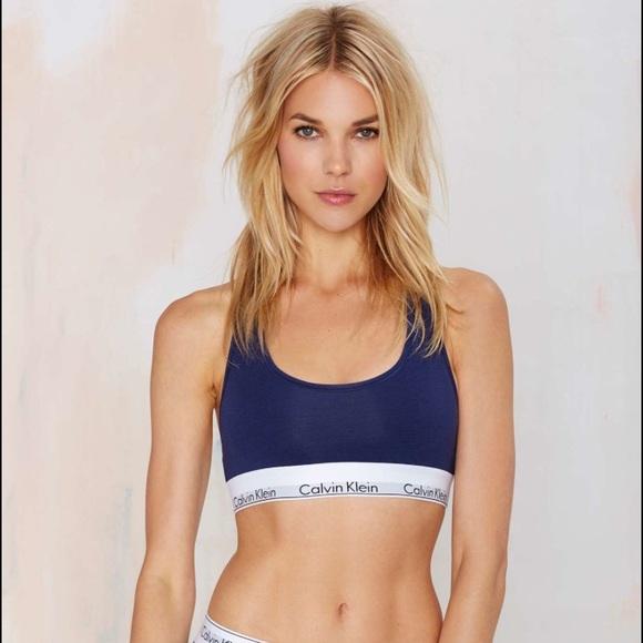 383450278e Calvin Klein Other - Navy CK sports bra