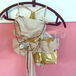 Gold Dance Costume Custom Made