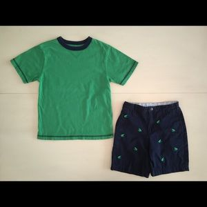Shorts and shirt Embroidered Frogs Talbots Kids