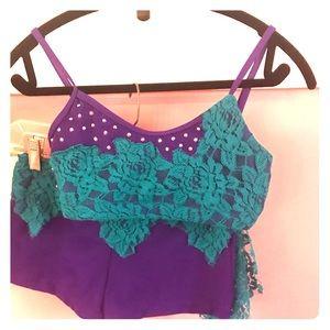 Custom Lace Dance Costume