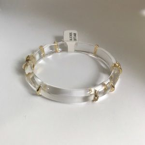 Alexis Bittar Striped Lucite Bracelet