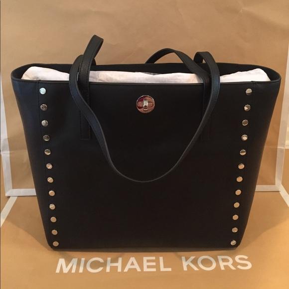 a5ef40b6b11b Michael Kors Bags | Rivington Stud Leather Tote | Poshmark
