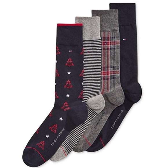 bff148f9 Tommy Hilfiger Underwear & Socks | Mens 4 Pack Christmas Tree Socks ...