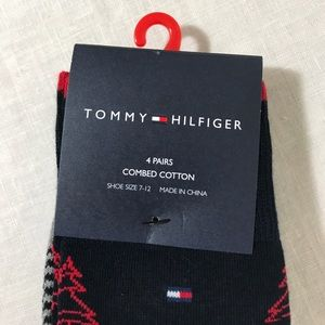f9b7e08fca9e Tommy Hilfiger Underwear & Socks - Tommy Hilfiger Men's 4 Pack Christmas  Tree Socks