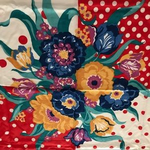 Accessories - Ladies scarf red white blue floral teens