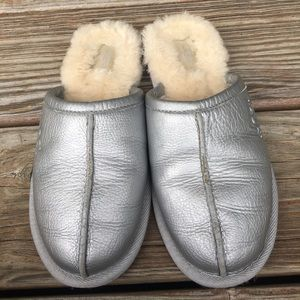 Silver Ugg slippers