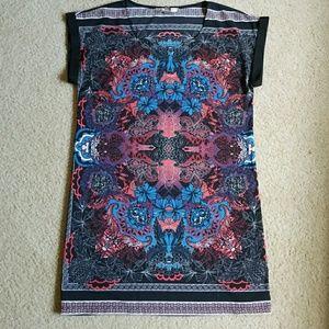 Forever 21 Contemporary   Short Sleeve Print Dress