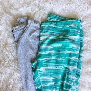 SOYBU green+white exercise capri pants