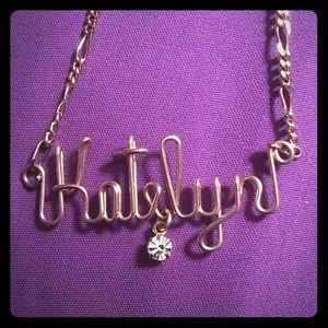 Jewelry - Katelyn Wire Pendant on 24kbg Chain Necklace