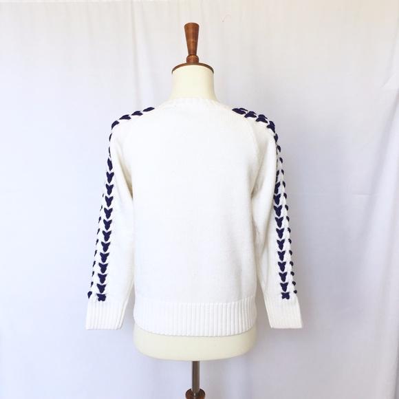 Anthropologie Sweaters - Hand Knit Yoke Merino Wool Sweater