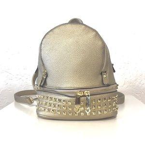 Handbags - Gold Metallic Mini Backpack Bag