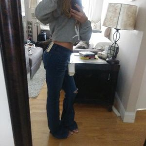 Denim - NWT Blue Spice High Waisted Distressed Flare Jeans
