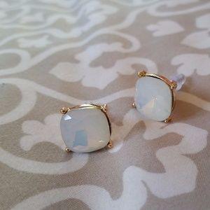 Jewelry - Large Shiny White Jeweled Studs