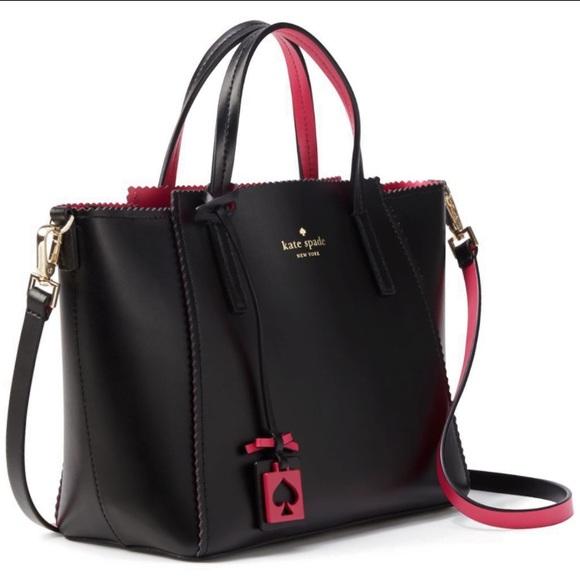 6c0675c7355b8 kate spade Handbags - kate spade ivy drive small loryn (black pink)