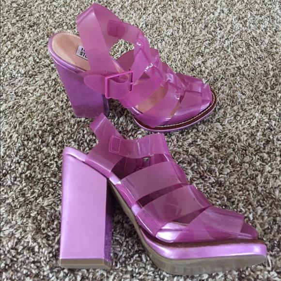 d95539234a5 Steve Madden Iggy Azalea pink jelly heels. M 59a86609981829cf22037dcd