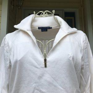 Ralph Lauren Golf cream colored half-zip pullover