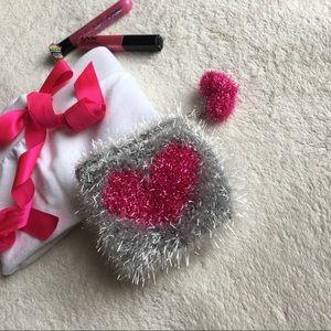 Handbags - HP💘 Heart Pom Mini Pouch |FUCHSIA|127