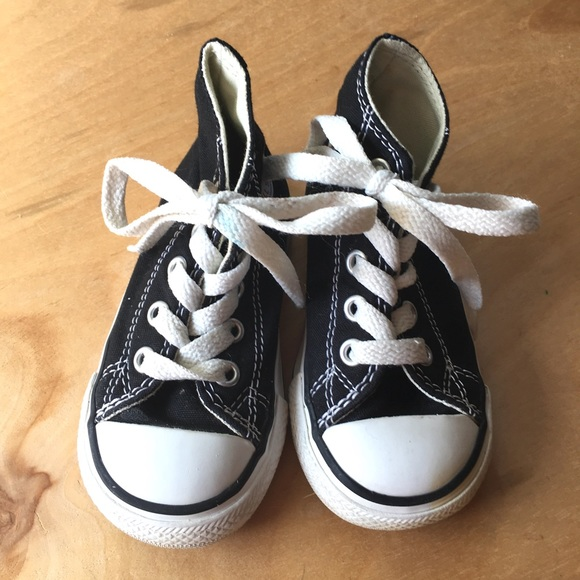 5af8c855cf570b Converse Other - Black High Top Toddler Converse - Size 5