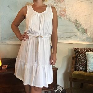 4 for $20 ☘️ Boho Ann Taylor White Tiered Dress