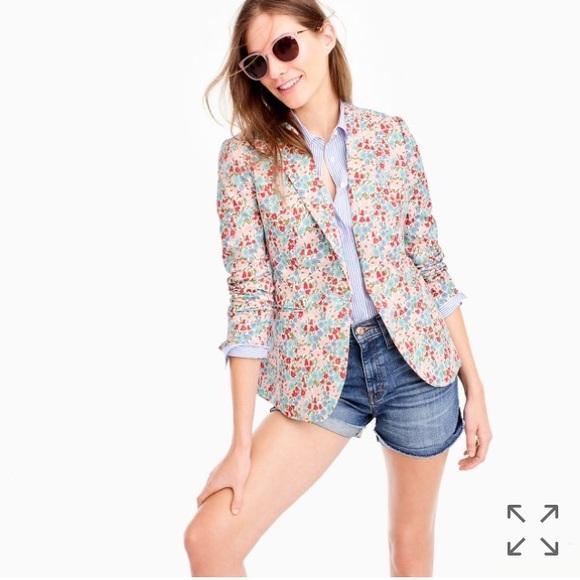 J.Crew - Womens L - NWT - Blue  Pink Liberty Floral Print Pull-On Shorts c2a179944