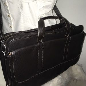 Levenger Briefcase Leather Laptop  Bag NEW