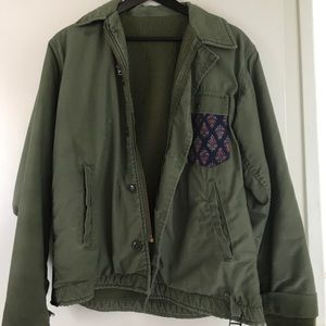Other - Army green unisex handmade jacket (one size)