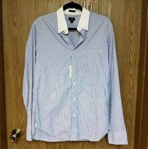 J Crew Mens Slim Medium Dress Shirt (New)