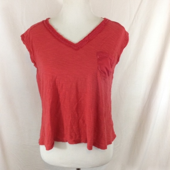 Anthropologie Tops - ANTHROPOLOGIE red rustic sleeveless a-line top
