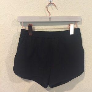 Sanctuary black reptile print shorts