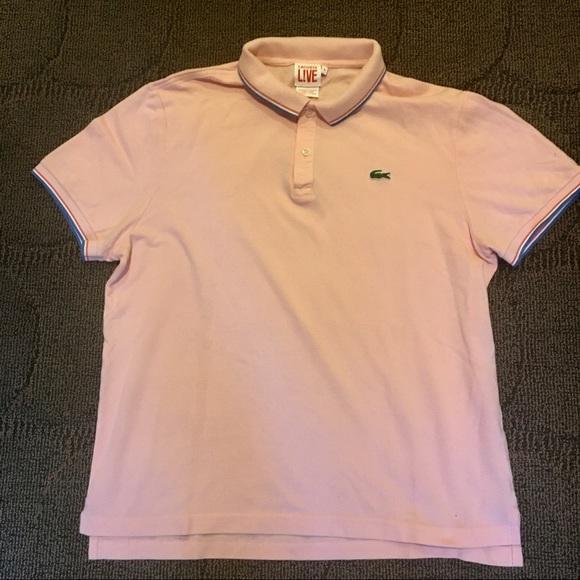 Lacoste Shirts Live Polo Shirt Pink Large Poshmark