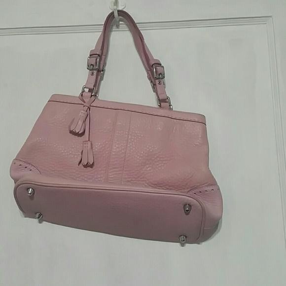 Coach Handbags - Coach pink mini satchel