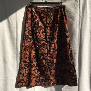 White stag long maxi skirt floral design 14 cotton