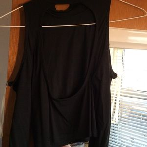 Tops - Black Long Sleeve Crop Top w/ Cut Outs sz S OFFER