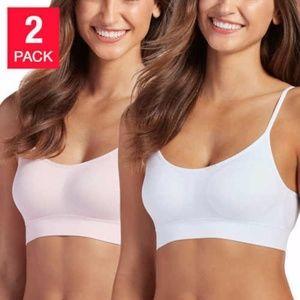 Jockey Ladies 2-pack Seamless Bralette White/Pink