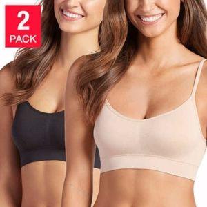 Jockey Ladies' 2-pack Seamless Bralette Nude/Black