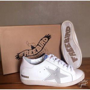 7d05a27fe71 Freebird by Steven Shoes - Freebird by Steven 927 White Leather Star  Sneakers