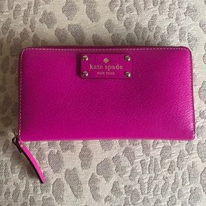 Handbags - Pink Kate Spade Leather Wallet