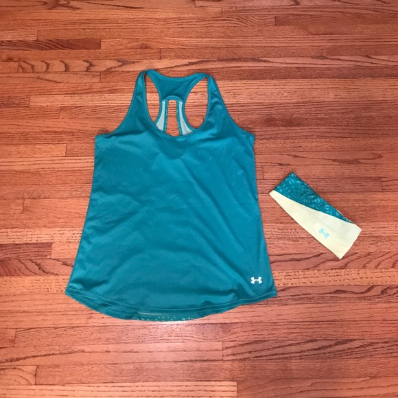 Under Armour Tops - M Under Armour Tank and headband