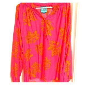 Escapada Hot Pink & Orange Tunic