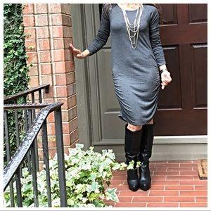 Dresses & Skirts - Charcoal grey midi dress