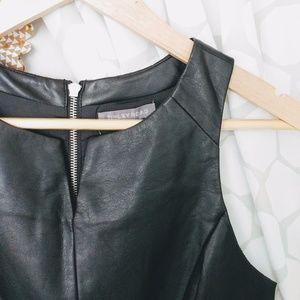 NWT Vegan Faux Leather Peplum Sleeveless Top