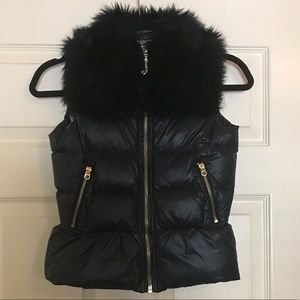 Juicy faux fur puffer vest