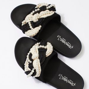 Jeffrey Campbell Mother of Pearl Slides