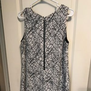 Black white and gray marbled dress